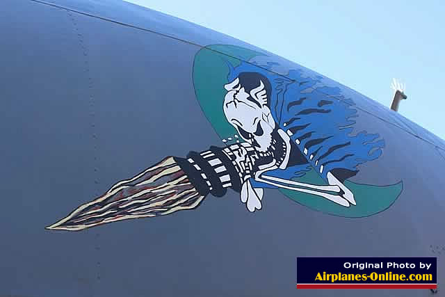 "Nose art on AC-130 ""First Lady"" at Eglin, AFB, Florida"
