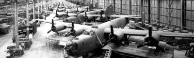 Article on the number of bomber planes built by the United States during World War II
