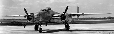 The story of the North American B-25 Mitchell bomber, its history, design, production numbers, surviving planes, photographs