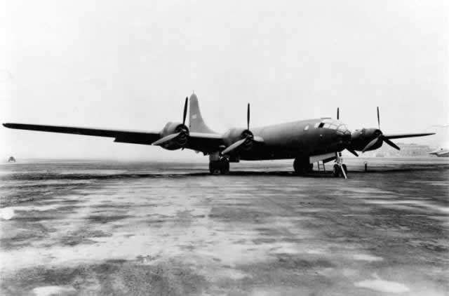 Boeing XB-29, S/N 41-002, seen at Boeing Field in Seattle, on October 1, 1942