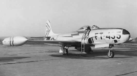 Air Force RF-80A Buzz Number FT-435 on apron