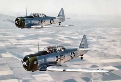 North American AT-6C aircraft in flight