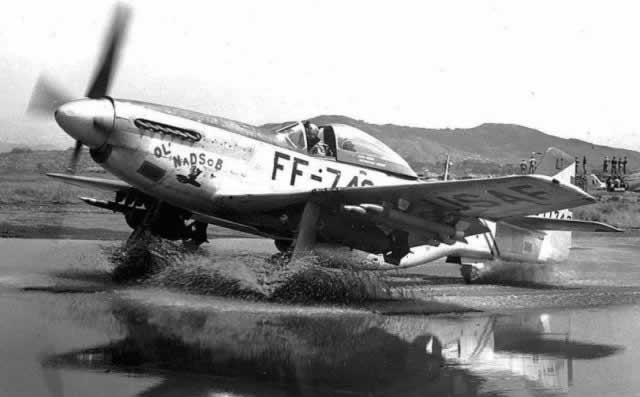 "USAF P-51 Mustang with ""FF"" Series Buzz Number"