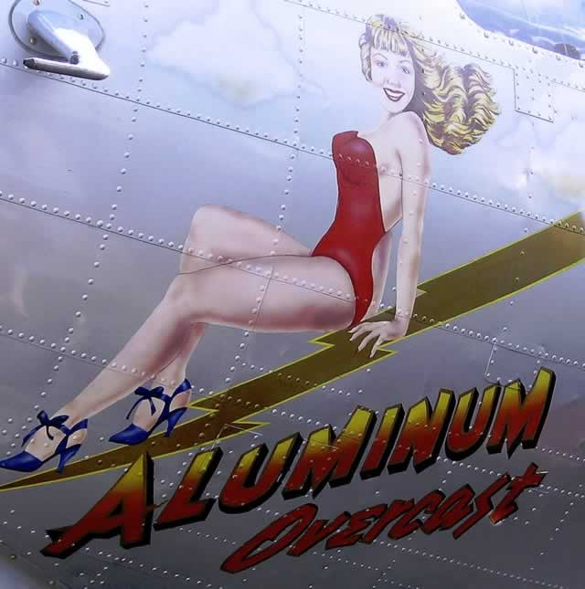 "Boeing B-17 Flying Fortress ""Aluminum Overcast"" nose art"