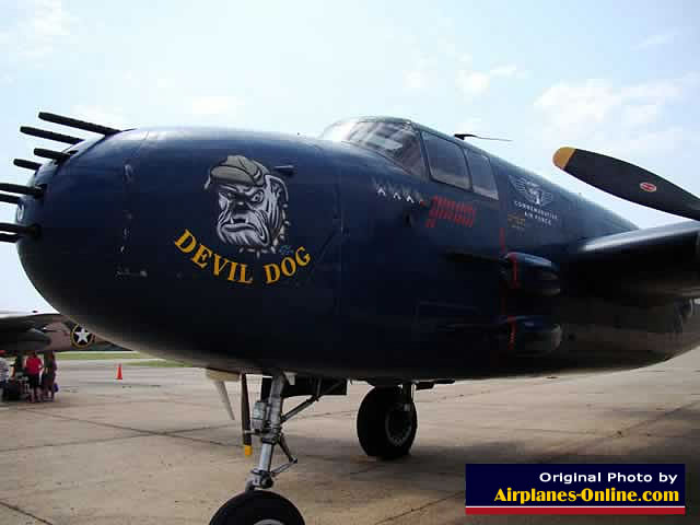 "North American PBJ-1J ""Devil Dog"" patrol bomber, a B-25 variant for the Marine Corps"