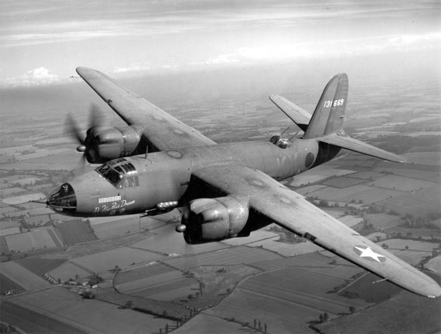 Martin B-26B Marauder in flight