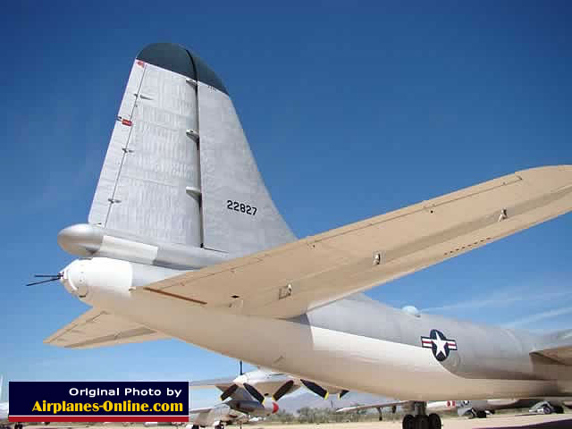 Tail section of the B-36J Peacemaker in Arizona