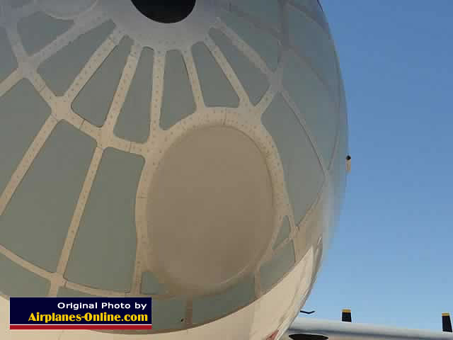 Close-up view of nose section of the B-36J Peacemaker S/N 22827