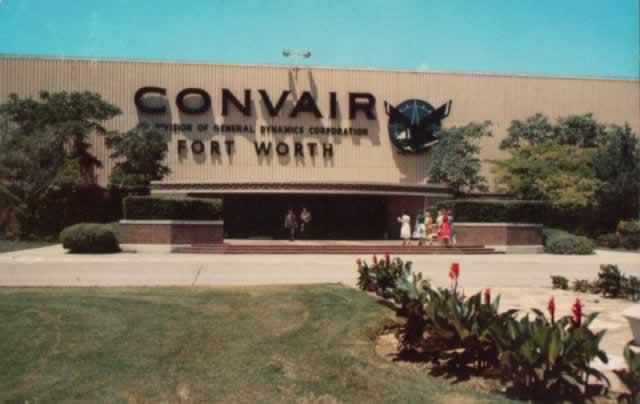 Historic image showing the Convair plant in Fort Worth