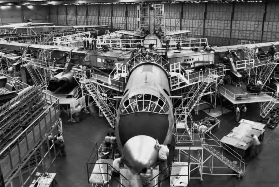 YB-60 assembly at the Convair Fort Worth Plant