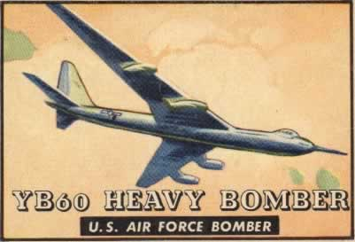 Convair YB-60 Heavy Bomber of the U.S. Air Force (Friend or Foe trading card series from the author's historical archive)