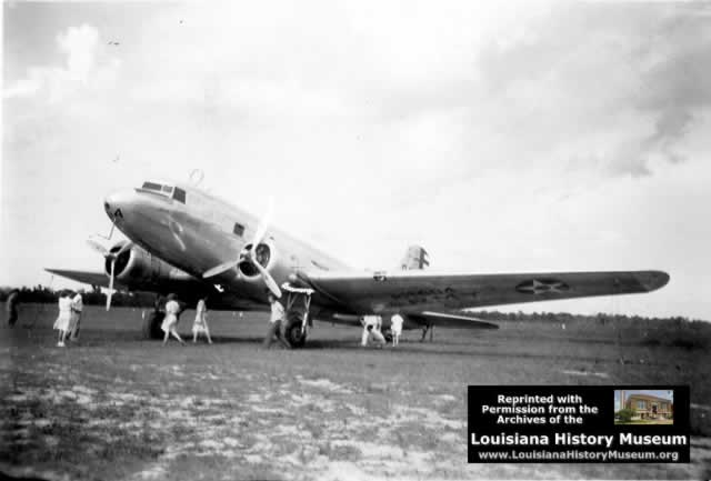 Douglas C-39 at Camp Beauregard Louisiana in WWII