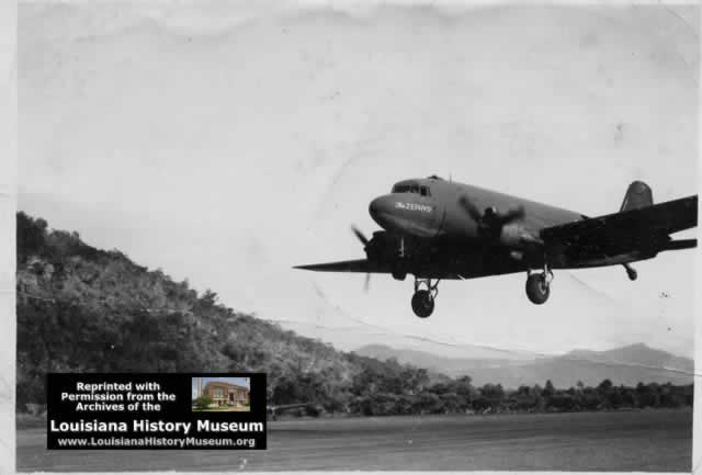 "C-47 ""The Zephyr"" on landing approach"