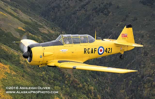 AT-6 Harvard MkIV of the Commemorative Air Force, RCAF 421, Registration Number N421QB