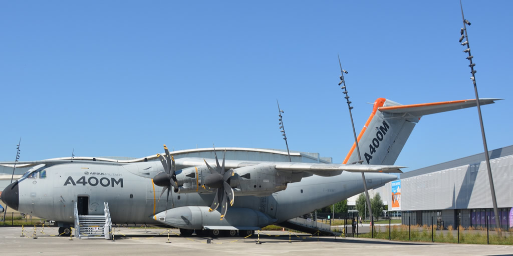 Airbus A400M Registration F-WWMT, on display at Aeroscopia Toulouse Blagnac