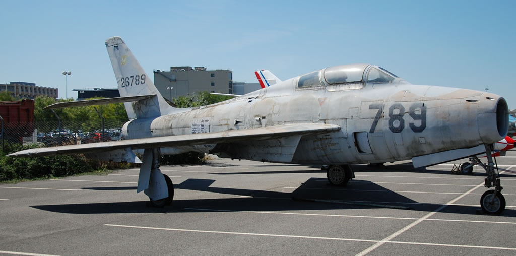 F-84F Thunderstreak 26789, at Les Ailes Anciennes Toulouse, France