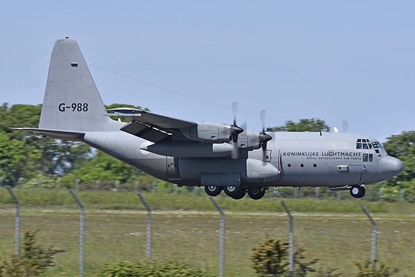 C-130H Hercules G-988 of the of the Royal Netherlands Air Force