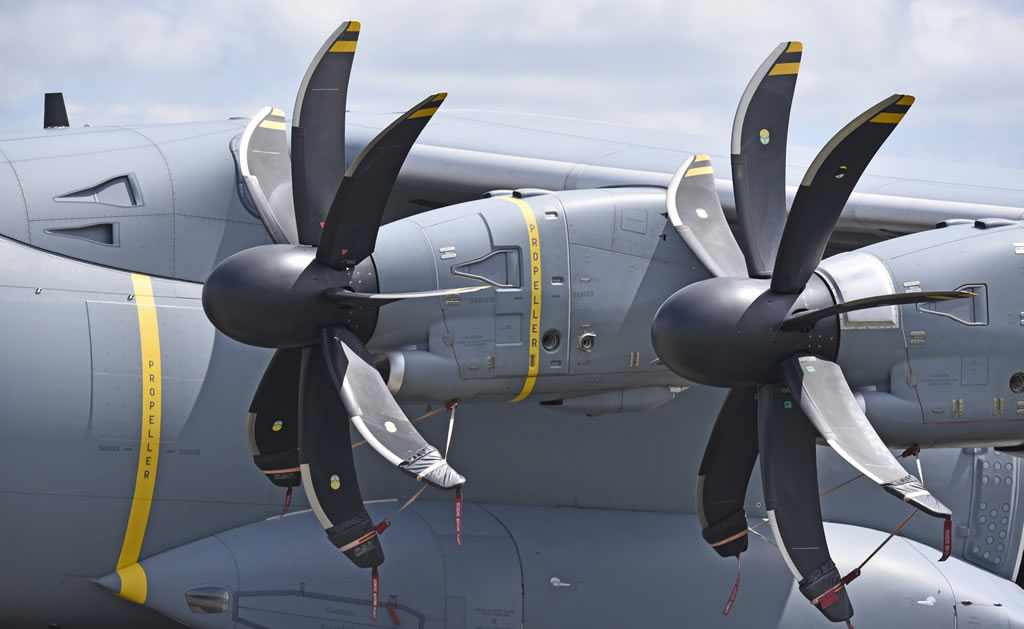 Engines on the Airbus A400M Atlas