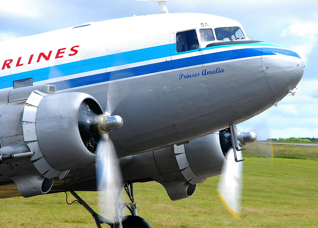 "C-47 ""Prinses Amalia"", Registration PH-PBA, in the markings of KLM Royal Dutch Airlines"