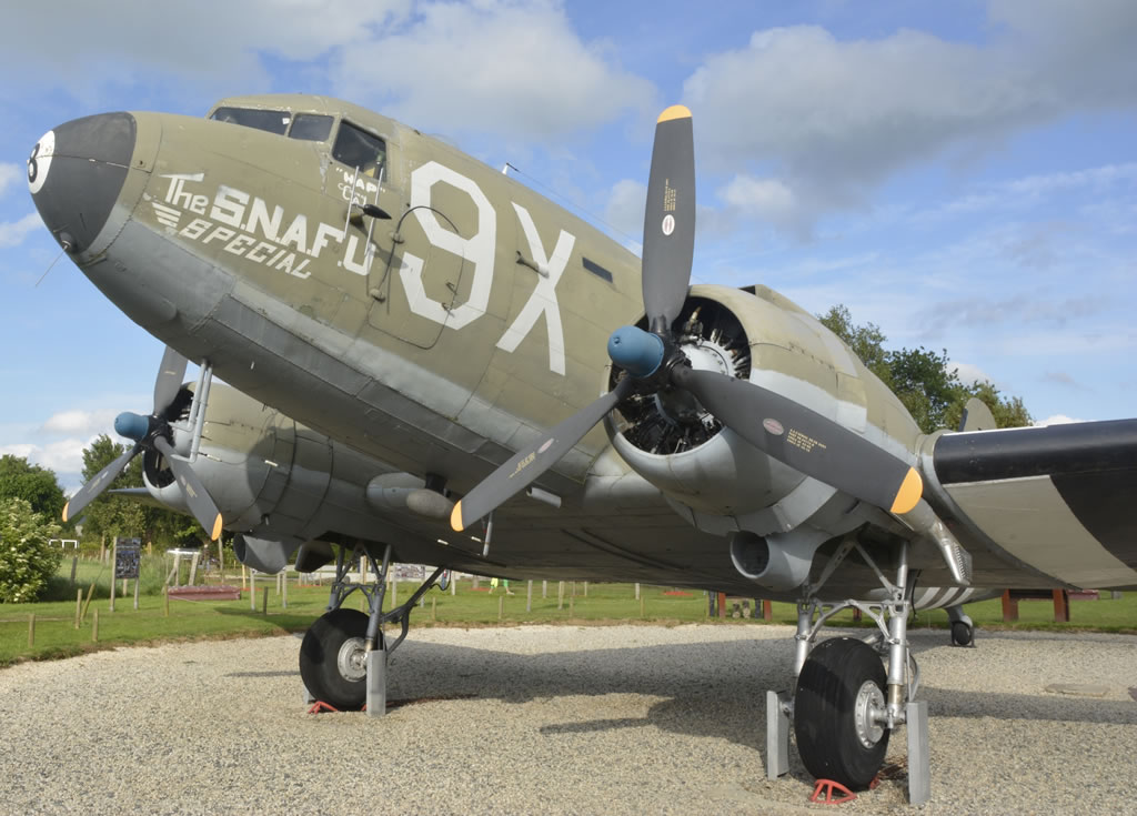 "C-47 Skytrain ""The Snafu Special"", S/N 43-15073, Merville, France"