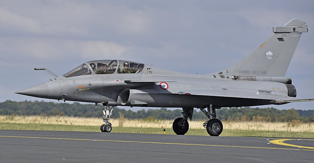 Dassault Rafale B two-seater, 329, of the French Air Force