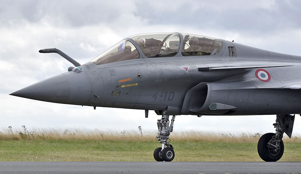 Two-seat Dassault Rafale B of the French Air Force