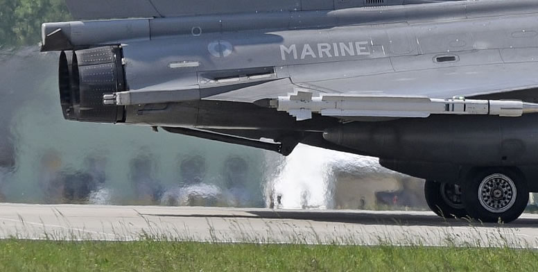 Tailhook on a Dassault Rafale M of the French Air Force