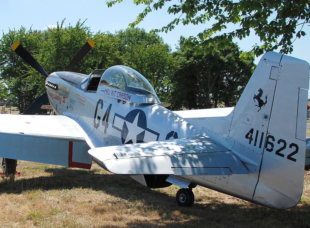 P-51D Mustang, Registration F-AZSB, Rochefort, France in May of 2011