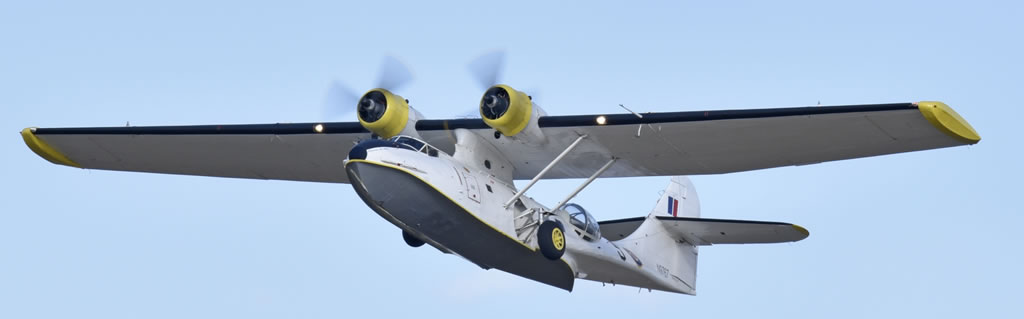 "PBY-5A Catalina N9767 ""La princesse des étoiles"", in flight over Melun in 2019"