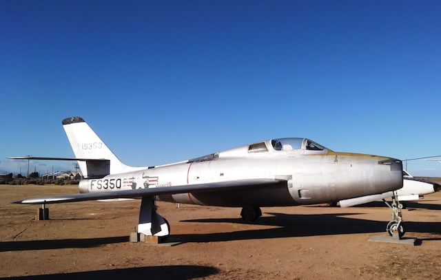 F-84F Thunderstreak, S/N 19350, Buzz Number FS-350, Edwards Air Force Base