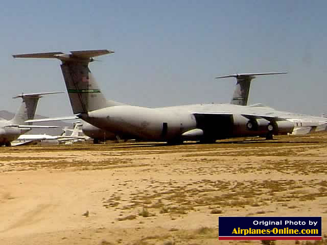 C-141 Starlifters in storage at Davis-Monthan Air Force Base AMARG (May, 2004)