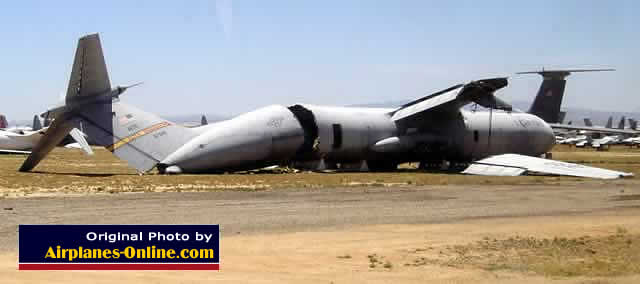 C-141 Starlifter sliced in half - former AETC aircraft from Altus AFB, S/N 67946 at AMARG in Tucson (May 2004)