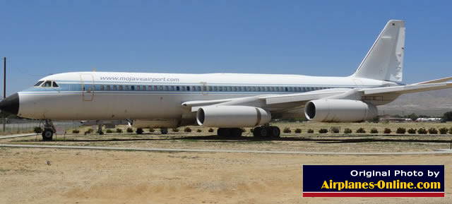 Convair 990 Jetliner gatekeeper on display at the entrance to the Mojave Airport