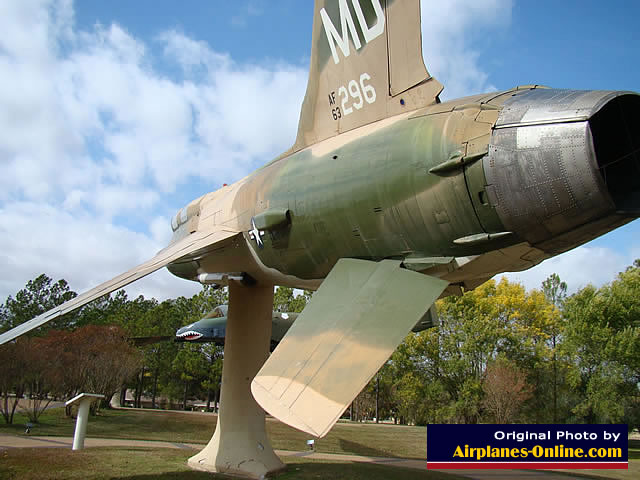Republic F-105 Thunderchief on static display at the site of the closed England Air Force Base, Alexandria, Louisiana