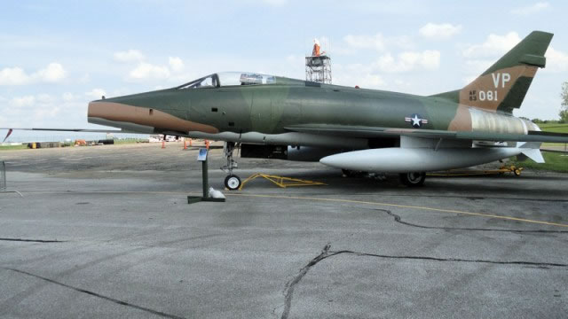 North American F-100D Super Sabre 56-3081 after preservation at MAPS
