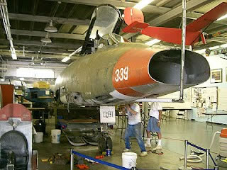 F-100D Super Sabre 56-3081 during restoration
