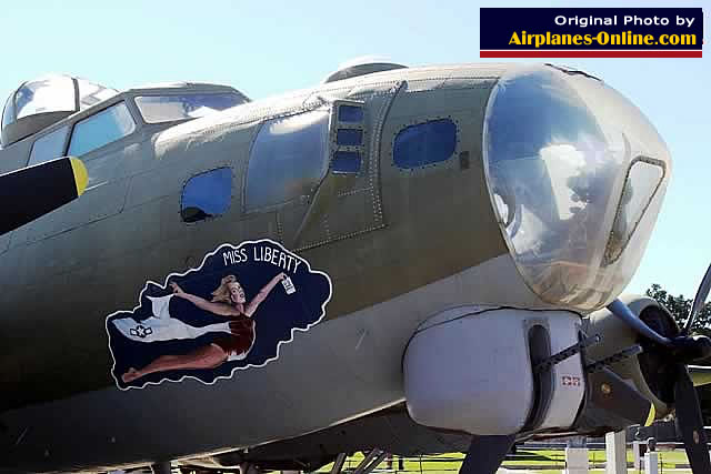 "Nose area of the Boeing B-17G Flying Fortress ""Miss Liberty"" S/N 231340"
