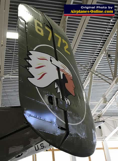 Tail section of the B-25J Mitchell, S/N 44-86772