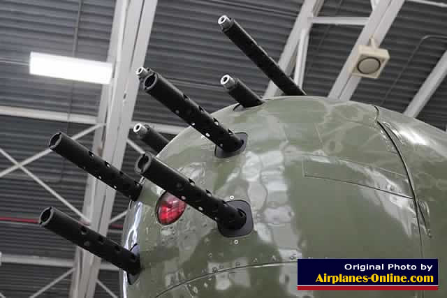 Gun armament on the B-25J Mitchell, S/N 44-86772