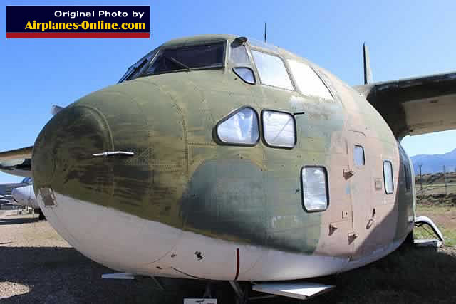 Nose section of the Fairchild C-123K Provider at Hill AFB