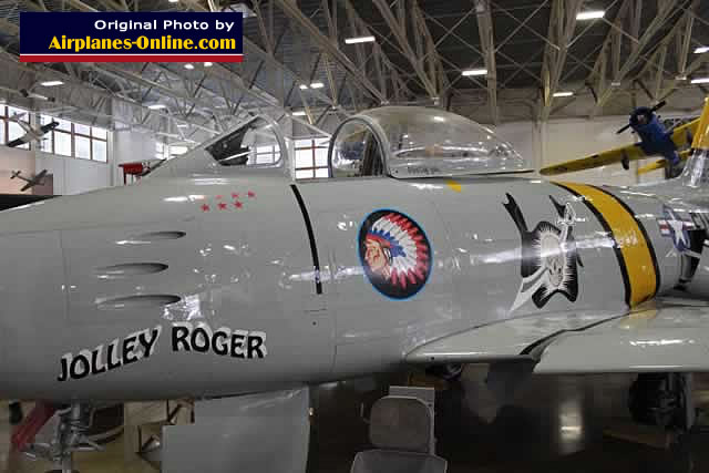 "F-86F Sabre ""Jolley Roger"", buzz number FU-834"