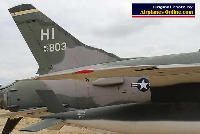 F-105 Thunderchief, S/N 57-803, on display at the March Field Air Museum in California