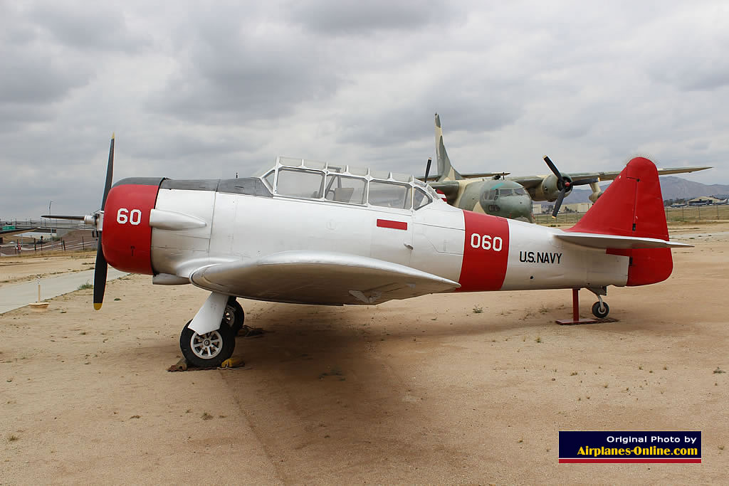 SNJ-4 Texan of the US Navy, BU 51360, at the March Field Air Museum in California