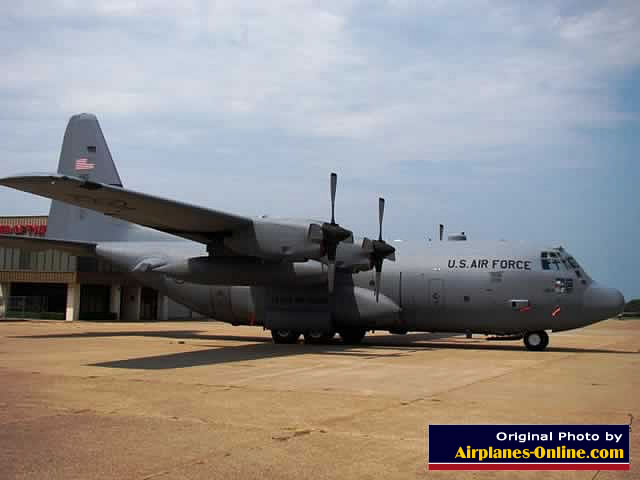 Lockheed C-130 Hercules on display at the Historic Aviation Memorial Museum in Tyler, Texas