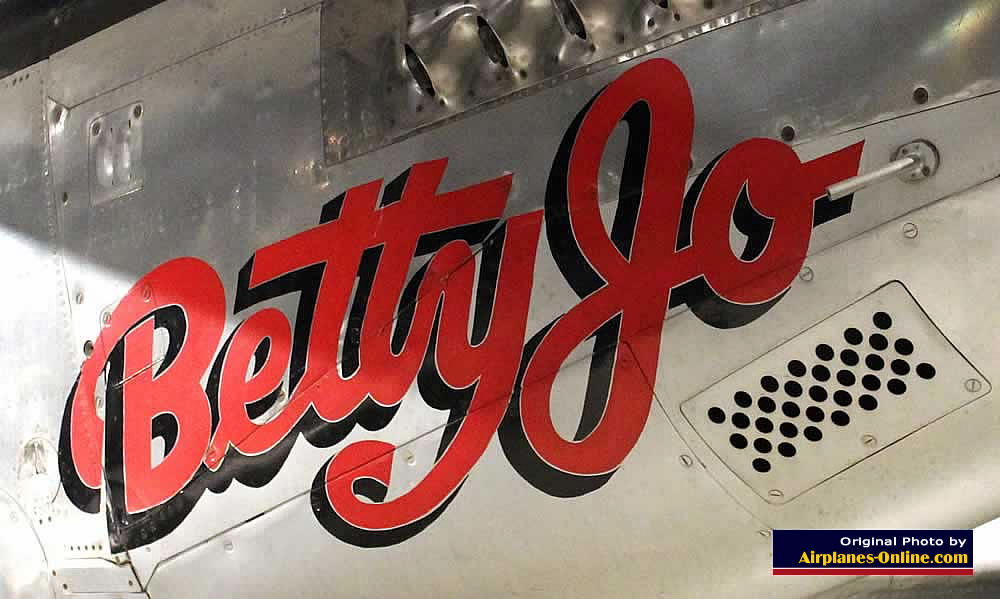 "Nose art on North American F-82B Twin Mustang ""Betty Jo"", National Museum of the U.S. Air Force"