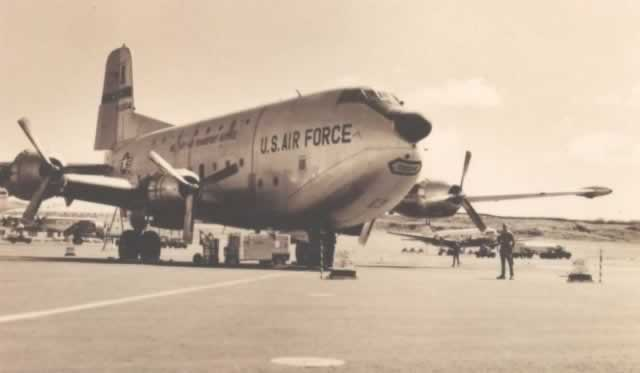 U.S. Air Force C-124 Globemaster, at Terceira Island, Azores, circa 1960