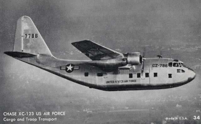 Chase Aircraft Corporation XC-123, S/N 7786, Buzz Number CZ-786, in flight