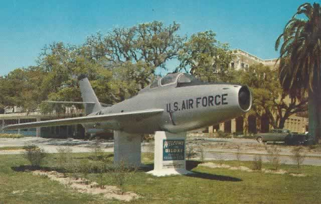 F-84F Thunderstreak on static display at Keesler Air Force Base, Biloxi, MS