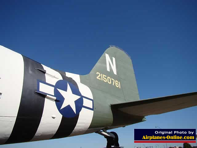 C-47 Skytrain on display at the Charles B. Hall Airpark at the entrance to Tinker Air Force Base, Oklahoma City, Oklahoma