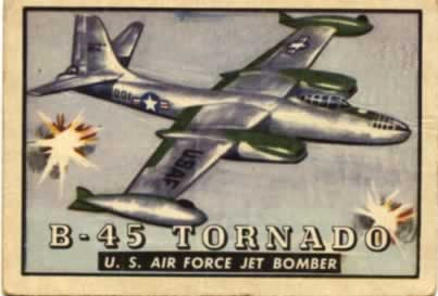 B-45 Tornado jet bomber of the U.S. Air Force (Friend or Foe trading card series from the author's historical archive)